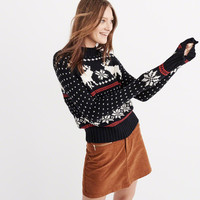MOOSE FAIRISLE MOCK NECK SWEATER