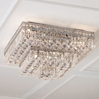 Eight-Light Crystal Ceiling Fixture - Neiman Marcus