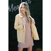 Paltrow Double Breasted Blazer, Dusty Yellow