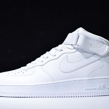 Originals Nike Air Force One 1 Mid All White AF1 '07 315123-111