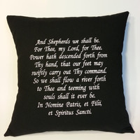 Boondock Saints inspired Embroidered Pillow Case Cover