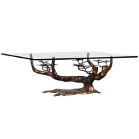 Bonsai Coffee Table Attributed to Willy Daro