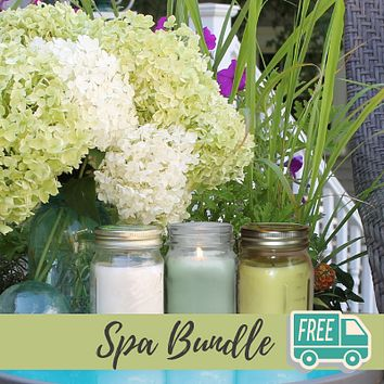 Mosquito Repellent Candle Natural Spa Bundle | Set of 3 Multi-Scent | Soy-Base, Eucalyptus, Cedarwood & Pine, Lemongrass | Made in USA