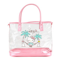 Hello Kitty 2-Way Shoulder Tote: Glittery Summer