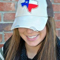 Designer Trucker Hat With Texas State Patch