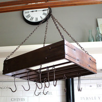 Pan hanging rack in brown - Melody Maison