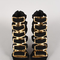 Angelo-1 Strappy Open Toe Wedge
