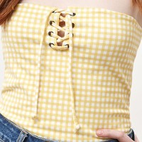 Me To We Lace-Up Tube Top at PacSun.com