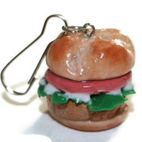 Chicken Sandwich Necklace Polymer Clay Jewelry