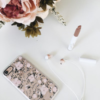 Girly iPhone 7 & 7 Plus Case (Pink Floral Flowers and Roses Pattern) by Casetify