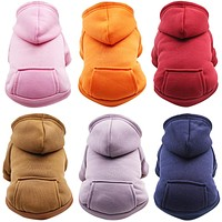 Brand New Cat Clothes Autumn Winter Clothes Warm Coat Jacket Pet Hoodies for Cats Dogs Puppy Outfits Cat Clothing 6C38S2