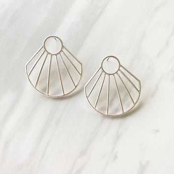 On The Horizon Silver Statement Earrings