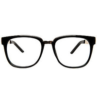 The I Can See Clearly Glasses in Shiny Black and Gold