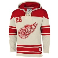 Old Time Hockey Detroit Red Wings Lace Jersey Team Hoodie - Tan