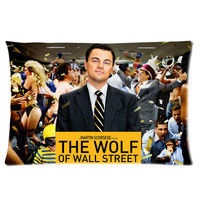 Leonardo Dicaprio The Wolf Of Wall Street  Personalized Pillowcase Cover With Front And Back Pictures