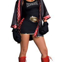 Tko Total Knockout Costume, Boxer Girl Costume, Sexy Boxer Costume, Sexy Boxer Halloween Costume