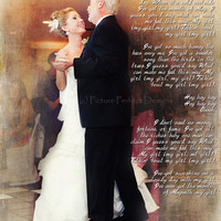 Father Daughter Wedding Dance Song Lyrics Photo Art Custom Photo Editing