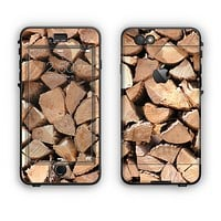 The Chopped Wood Logs Apple iPhone 6 Plus LifeProof Nuud Case Skin Set