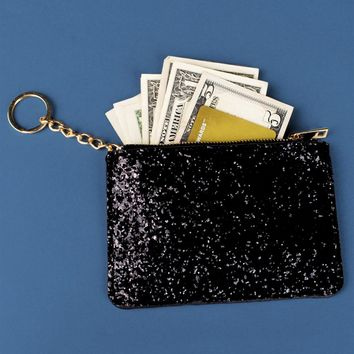 Glitter Clutch with Keychain