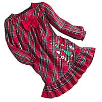 Mickey and Minnie Mouse Plaid Nightgown for Girls