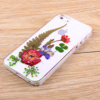 Rose resin pressed flower iPhone case and Galaxy case 023