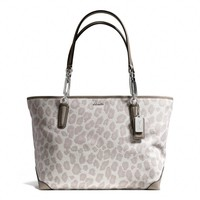 MADISON EAST/WEST TOTE IN OCELOT JACQUARD