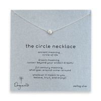 the circle necklace, sterling silver