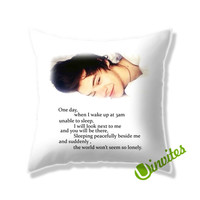 Harry Styles 1D Quotes Square Pillow Cover
