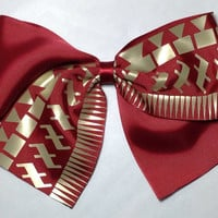 FSU New Pattern Inspired Hair Bow On Sale