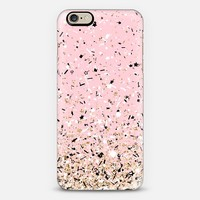 Blush Pink Party Confetti Explosion iPhone 6 case by Organic Saturation | Casetify