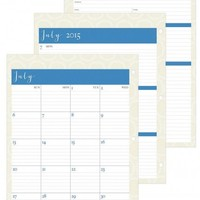 July 2015 - June 2016 Susy Jack Circles Weekly/Monthly 3-hole Punch Planner Refill 8.5 x 11