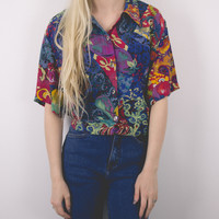 Vintage 70s Abstract Blouse