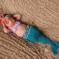 Newborn Baby Girls Boys Crochet Knit Costume Photo Photography Prop = 4457571844