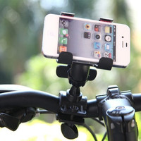 360 Degree Rotatable Bicycle Bike Phone Holder Handlebar Clip Stand Mount Bracket for iPhone Samsung Cellphone GPS MP4 MP5 Phone Accessories PA1567 = 1646015940
