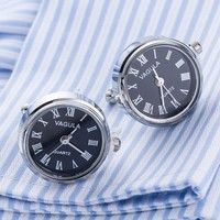 Real Working Watch Cuff-Links