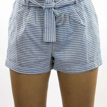 Skies Are Blue | The Resort Striped Shorts