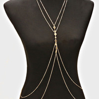 Multi Layered Coin Body Chain - Gold