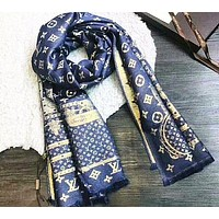Louis Vuitton Multicolor Fashion Women Winter Scarf Blanket Scarf