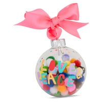 Love & Peace Pom Pom Ornament