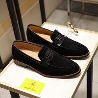 LV Men Casual Shoes Boots fashionable casual leather Men fashion