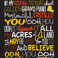 George Ezra - Budapest / Song Lyric Typography Poster