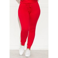 Set You On Track Jogger Red