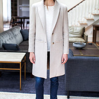Tailored Coat - Fawn Wool   Emerson Fry