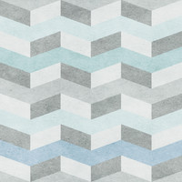 Removable Wallpaper - Blue Chevron