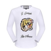 GUCCI HOT SALE Round neck letters printed long sleeve sweater tiger