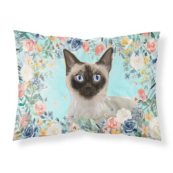 Siamese Spring Flowers Fabric Standard Pillowcase CK3398PILLOWCASE