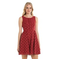 Disney's Minnie Rocks the Dots a Collection by LC Lauren Conrad Dot Fit & Flare Dress - Women's