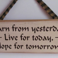 Rustic Cabin Wooden Sign Live For Today Primitive Rustic Decor Prim Wall Hanging Homespun Fabric Gift for Cat Lover Gift