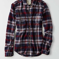 AEO Ahh-mazingly Soft Flannel Shirt Jacket, Navy