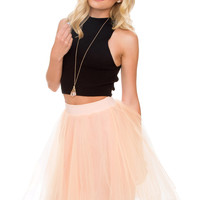 Karlie Tulle Skirt - Peach
